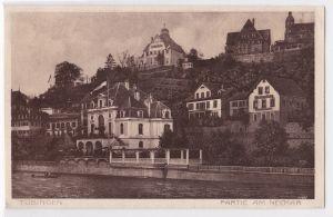 AK Tübingen Partie am Neckar ungelaufen