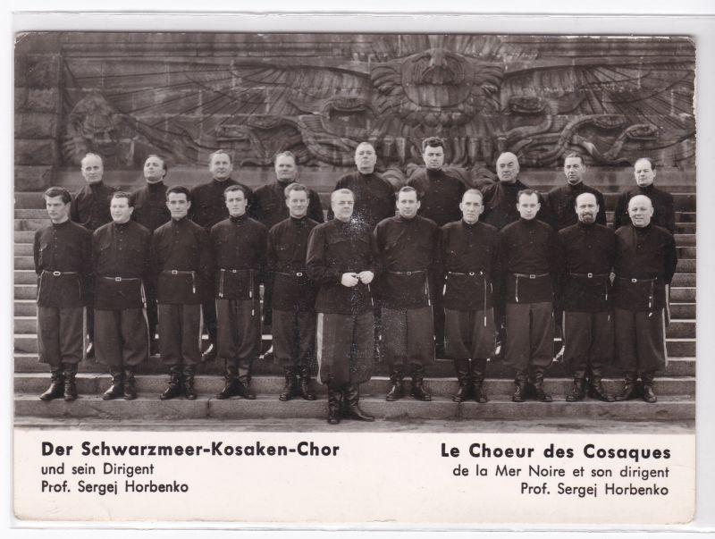 Autogrammkarte Der Schwarzmeer-Kosaken-Chor signiert