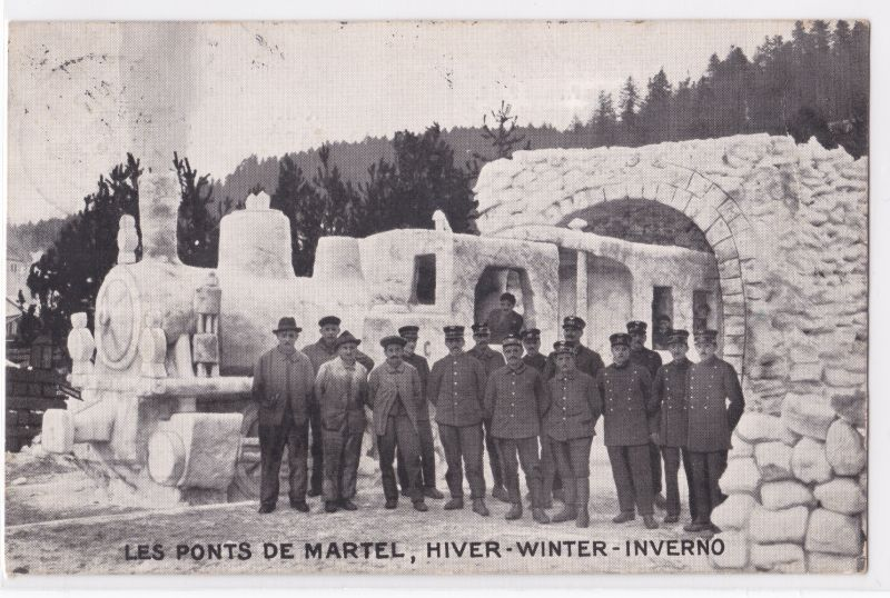 AK Schweiz Les Ponts de Martel Schaffung Pensionsfonds P. S. C. 1924 gelaufen