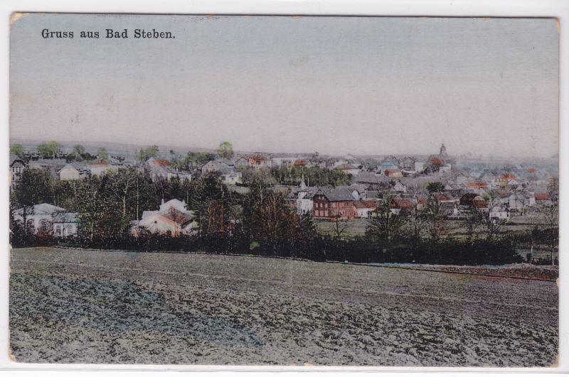 AK Gruß aus Bad Steben um 1920 gelaufen