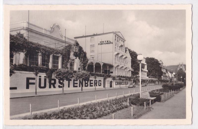 AK Remagen am Rhein Hotel Fürstenberg Caracciola ungelaufen