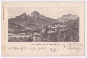 AK Berchtesgaden von der Alpenruhe aus 1902 gelaufen