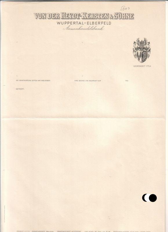 Schreibenrechnung Blanko Außenhandelsbank Von Der Heydt Kersten