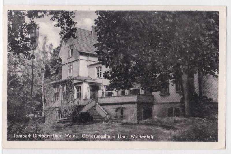 AK Tambach-Dietharz Genesungsheim Haus Waldenfels Thür. Wald 1959 gelaufen