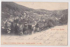 AK Gruss aus Ruhla 1902 gelaufen