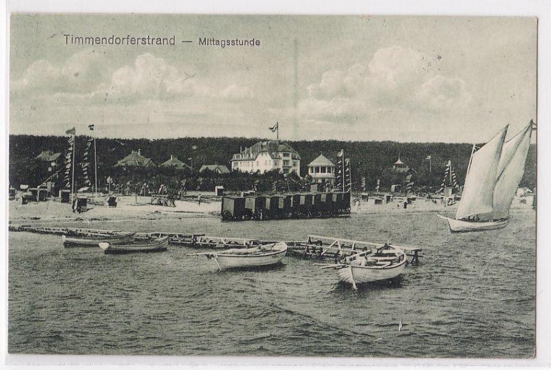 AK Timmendorferstrand Mittagsstunde 1920 gelaufen