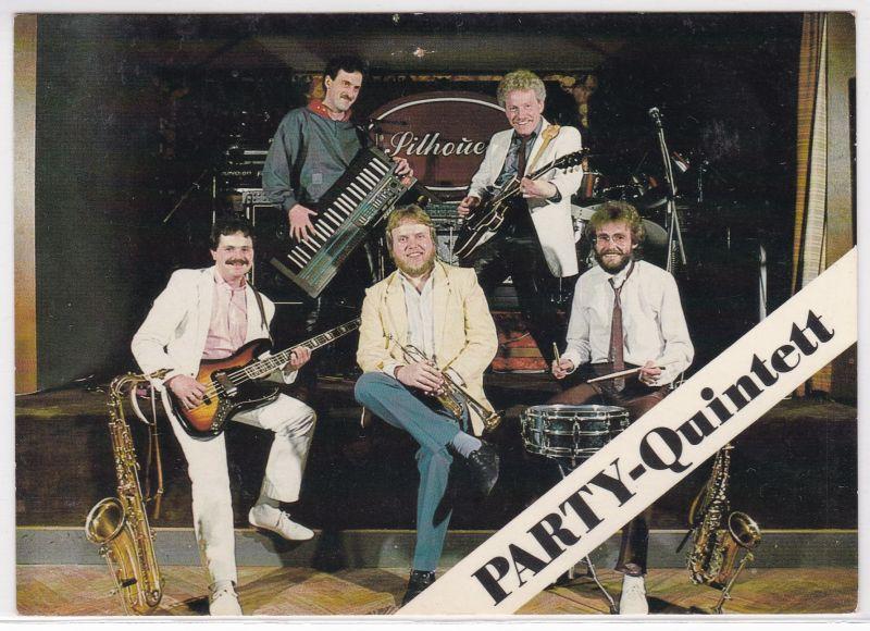 AK Autogrammkarte PARTY-Quintett Management Reinhard Hülsmann Waltrop ungelaufen