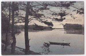 AK Gruß aus der Duberow Partie an der spitzen Ecke 1917 gelaufen