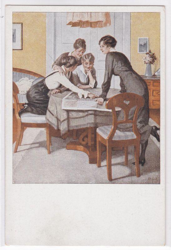 AK Kriegspostkarten von B. Wennerberg Nr. 6 Strategie ungelaufen