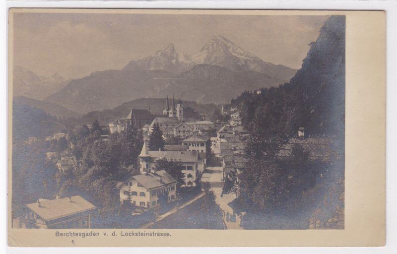"""AK Berchtesgaden von der Locksteinstraße, Photographiekarte """"Lotosa"""", ungelaufen"""