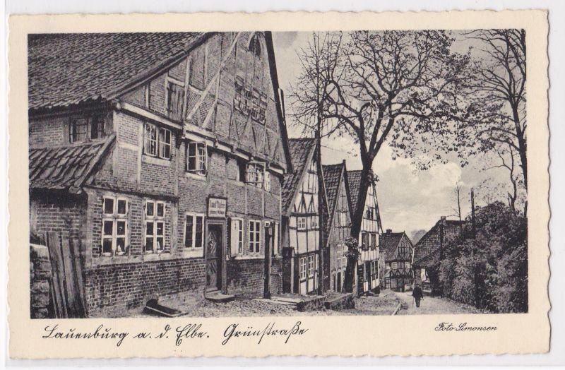 AK Lauenburg a. d. Elbe Grünstraße Foto Simonsen ungelaufen