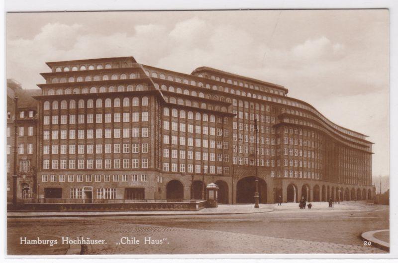 """AK Hamburgs Hochhäuser """"Chile Haus"""" Hamburg ungelaufen"""