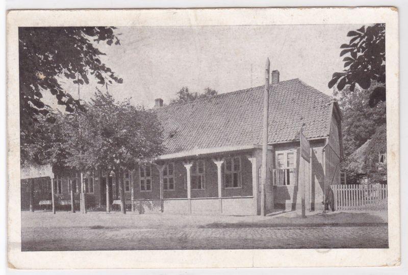 """AK Medingen bei Bevensen Gasthaus """"Vier Linden"""", Bes. H. Dornbusch, gelaufen"""