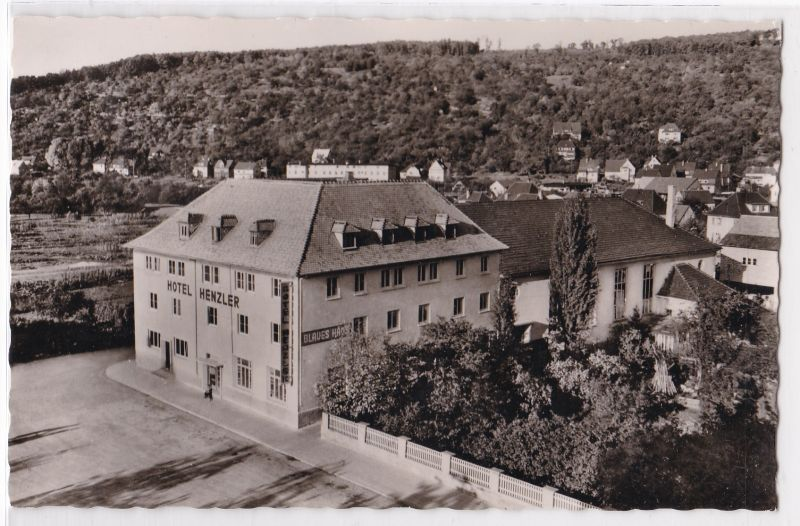 AK Plochingen Neckar bei Stuttgart Hotel Henzler Besitzer: J. Henzler ungelaufen