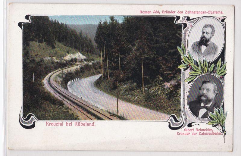 AK Kreuztal bei Rübeland, Roman Abt, Albert Schneider, ungelaufen