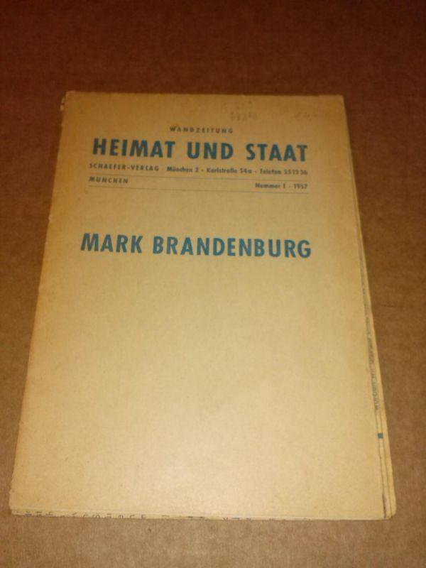 Wandzeitung Heimat und Staat - Mark Brandenburg - München Nummer 1 - 1957 Bayerische Landeszentrale für politische Bildung