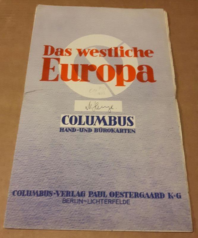 Das westliche Europa - Columbus - Hand- und Bürokarten - Maßstab 1:2750000 Columbus