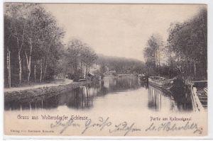 AK Gruss aus Woltersdorfer Schleuse Woltersdorf Partie am Kalkseekanal 1903 gelaufen