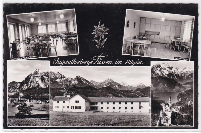 AK Jugendherberge Füssen im Allgäu Mehrbildkarte 1961 gelaufen