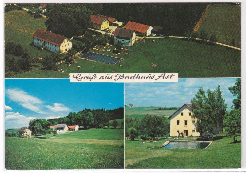 AK Tiefenbach Gruß aus Badhaus Ast Bes. Joh. Tremmel Mehrbildkarte Vilsheim Landshut ungelaufen