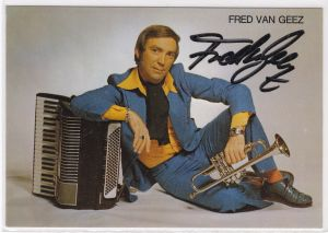 Autogrammkarte Fred van Geez signiert ZDF-Komik-Star Musik Autogramm