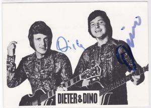 Autogrammkarte Dieter und Dino signiert Musik Autogramm