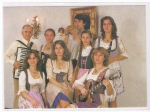 Autogrammkarte Familie Mönch signiert Schwalbach Musik Gesang Autogramm