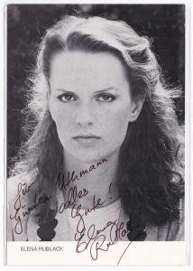 Autogrammkarte Elena Rublack signiert Autogramm