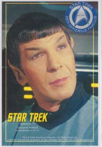 Star Trek Spock C4 Nimoy Sammelkarte Offizieller Star Trek Fan Club Düsseldorf - Star Trek - Der offizielle Fanclub - seit 1999 - (Leonard Nimoy) - Sammelkarte C4 von C7 - ohne Adresszeilen, Rückseite ist blanko