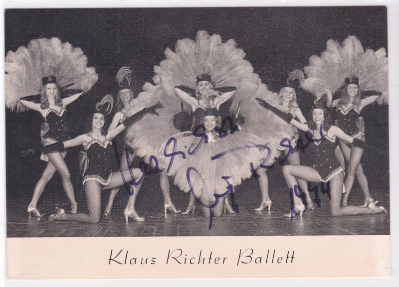 Autogrammkarte Fotokarte Klaus Richter Ballett signiert 1974 Autogramm