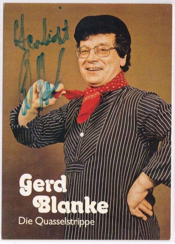 Autogrammkarte Gerd Blanke signiert Quasselstrippe Pointen Gags gute Laune