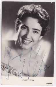 Autogrammkarte Jenny Petra signiert DDR Amiga Autogramm