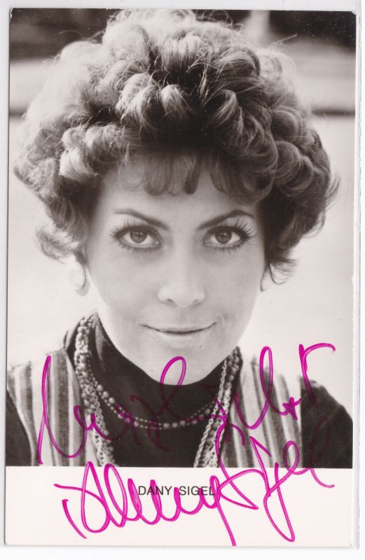 Autogrammkarte Dany Sigel signiert Autogramm