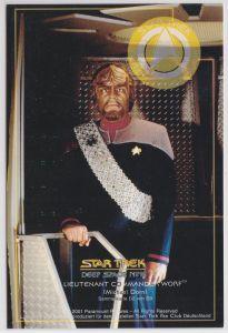 Star Trek Deep Space Nine Michael Dorn Lieutnant Commander Worf Karte D2 von D9