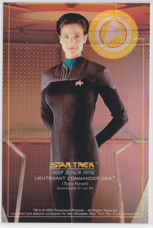Star Trek Deep Space Nine Terry Farrell Lieutnant Commander Dax Sammelkarte D7 von D9
