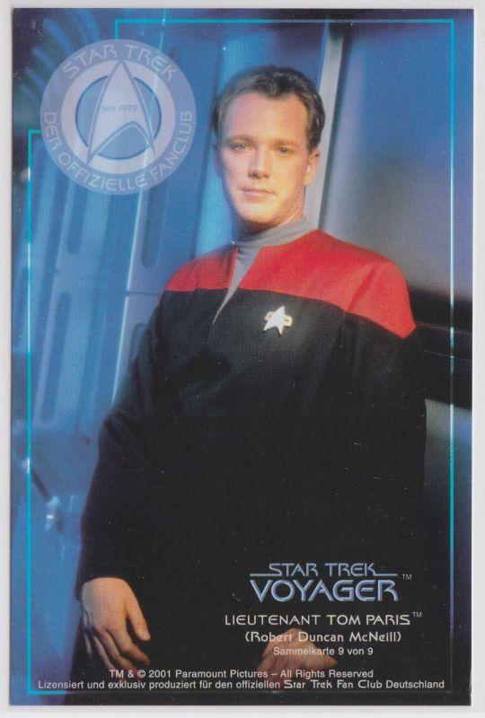 Star Trek Voyager Robert Duncan McNeill Lieutnant Tom Paris Sammelkarte 9 von 9