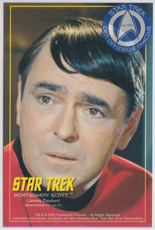 Star Trek James Doohan Montgomery Scott Sammelkarte C5 von C7