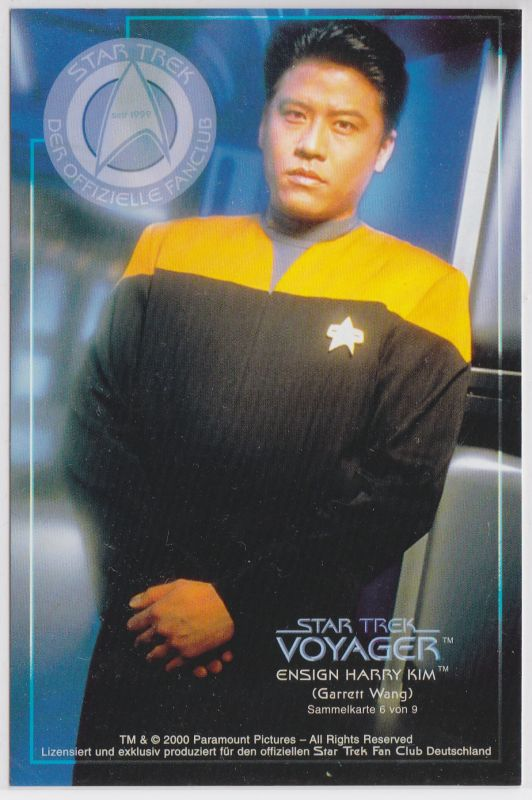 Star Trek Voyager Garrett Wang Ensign Harry Kim Sammelkarte 6 von 9