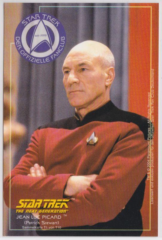 Star Trek The Next Generation Patrick Stewart Jean Luc Picard Sammelkarte T1 von T10