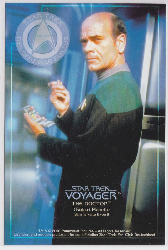 Star Trek Voyager Robert Picardo The Doctor Sammelkarte 8 von 9 0