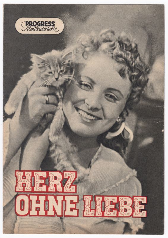Progress Filmillustrierte Herz ohne Liebe 70/54 Filmprogramm Larionowa Sharow - Filmprogramm von 1954 - Reich bebildert und illustriert!