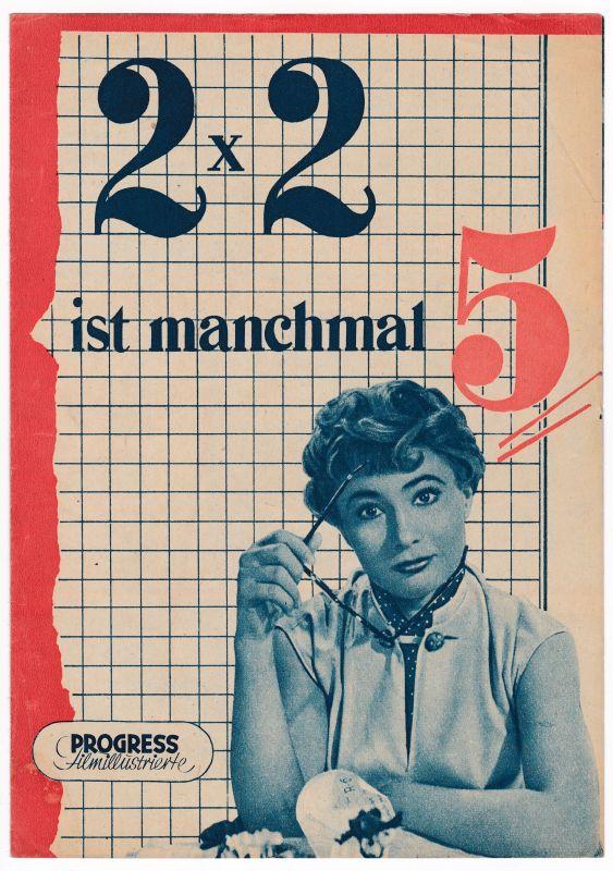 Progress Filmillustrierte 2x2 ist manchmal 5 Ferrari Zenthe 32/56 Filmprogramm - Filmprogramm von 1956 - Reich bebildert und illustriert!