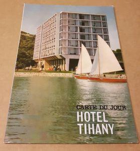 Speisenkarte - Carte Du Jour Hotel Tihany Ungarn - HungarHotels Hungaria Szalloda Esetterem Vallalat Hotel Tihany