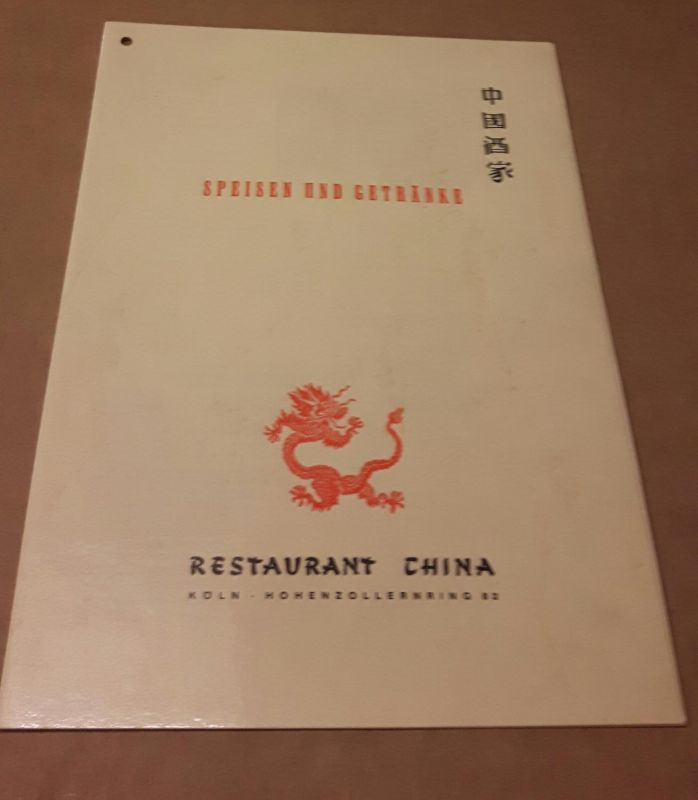 Speisen und Getränke - Speisenkarte - Restaurant China Köln Hohenzollernring 82 - Speisenangebot zweisprachig (de-eng) Restaurant China 0
