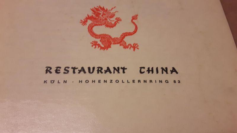 Speisen und Getränke - Speisenkarte - Restaurant China Köln Hohenzollernring 82 - Speisenangebot zweisprachig (de-eng) Restaurant China 1