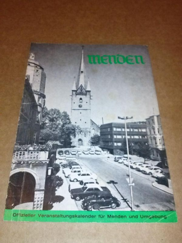 Menden - Offizieller Veranstaltungskalender für Menden und Umgebung (1969/1970) - Herstellung: Hanke, Werbeberatung Unna Massen - Titelfoto: Foto-Bockelmann, Menden Kulturamt Stadt Menden (Hrsg.)