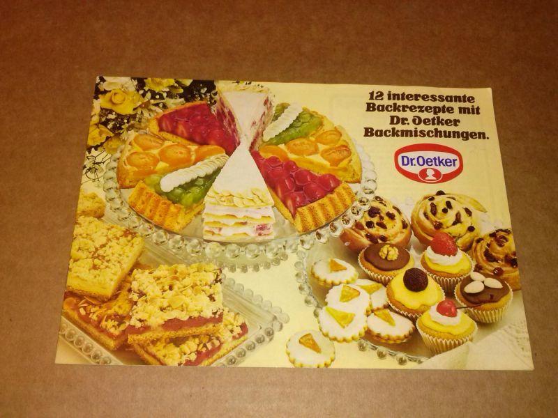 12 interessante Backrezepte mit Dr. Oetker Backmischungen. Um 1970. Dr. Oetker (Hrsg.)
