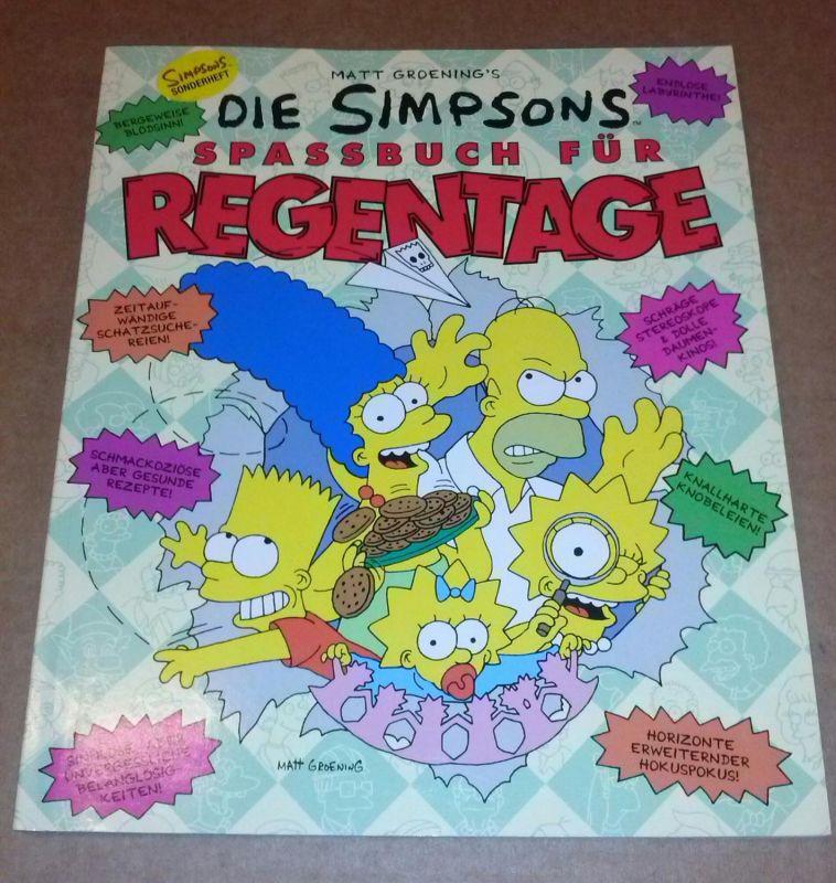 Die Simpsons - Spaßbuch für Regentage - Übersetzung aus dem Amerikanischen: Timothy Stahl - erste Auflage - Simpsons Sonderheft Groening, Matt