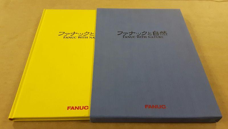 FANUC WITH NATURE - eine Seite Text, danach nur Bilder mit Bildunterschriften in eng und wohl japanisch - gelbes Buch und blauer OSchuber - spring, summer, autumn, winter Fanuc (Hrsg.)