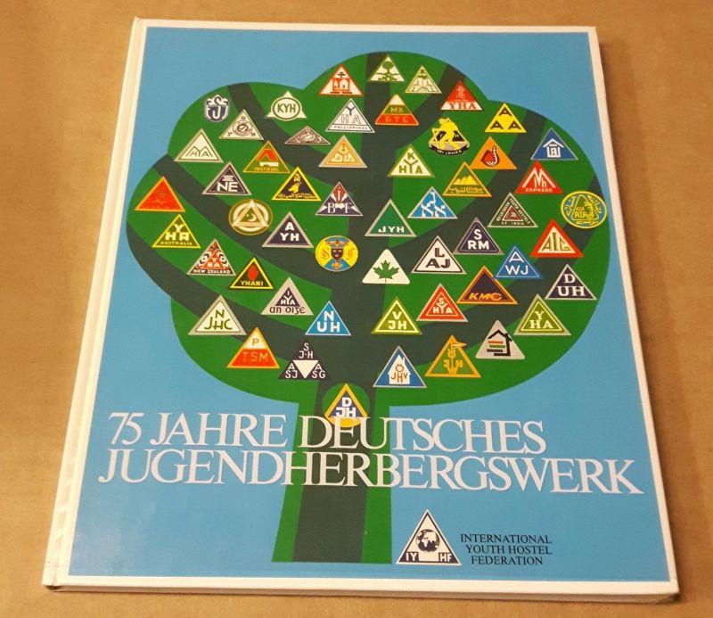 75 Jahre Deutsches Jugendherbergswerk - IYHF - international youth hostel federation - Texte in eng, de, frz, spa, jap, arab - bunte, farbige Seiten mit zahlreichen Fotos! IYHF/DJH (Hrsg.)